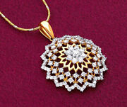 2.56ct Natural Round Diamond 14k Solid Yellow Gold Pendant