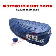 Motorcycle Seat Cover Suzuki Ts50 Er 19 Model Blue Cover And Strap Ts 50 Ts50er19