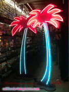 Super Cool Free Standing Neon Palm Treeand039s - Tiki Decor /outdoor Patio/pool House