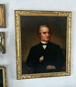 Antique 19th C. American Portrait Oil Painting Of A Gentleman Signed Dated 1868
