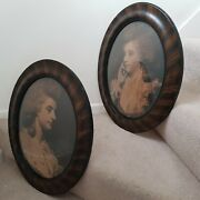 Antique Framed Pictures Lady Seymour-conway Sisters Portrait Sir Joshua Reynolds