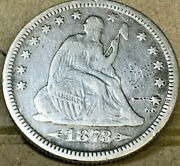 United States 1873 Quarter Dollar.. Arrows Seated Liberty..key Date..very Scarce