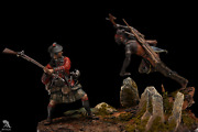 Melee French And Indian War Painted Toy Soldier Miniature Pre-sale   Museum