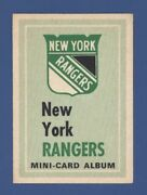 1969-70 Opc New York Rangers Team Booklet Exmt No Stickers Ratelle, Gilbert+