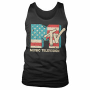 Officially Licensed Mtv Distressed Usa-flag Tank Top Vest S-xxl Sizes
