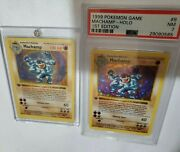 Machamp 2x 1st Edition 8/102 Holo Wizards Of The Coast 1999 - Psa 7 N Mint