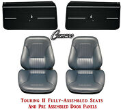 Standard Touring Ii Fully Assembled Seats And Door Panels 1968 Camaro