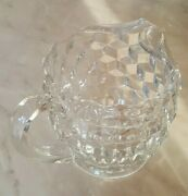 Fostoria American Pitcher Vintage Cubic Design 5.5 Inches Tall Holds 38 Ozs