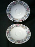 Meito Norleans China Grayson Saucers 2 Only Occupied Japan
