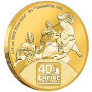 Star Wars The Empire Strikes Back 1/4 Oz Gold Coin Niue 25 Dollars 2020 25