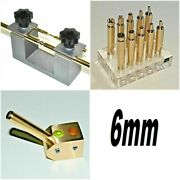 6mm, 3x Dop Transfer, Angle Dop 45/90, Brass Dop, Lapidary Faceting Machine