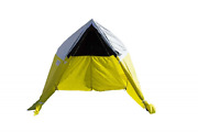 Pelsue 6705 Fiber To The Home Tent, White/black Upper, Yellow Poly Lower, 6.5'