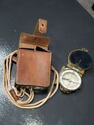 Wwii Japanese Soldierand039s Military Compass With Leather Case And Tassel