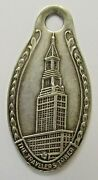 1920and039s Travelerand039s Insurance Co. Tower Building Hartford Ct. Keychain Fob Tag