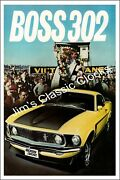Ford Mustang Boss 302 Victory Lane Winners Poster-free Us Ship