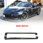 For Mazda Mx5 Nd5rc Miata Roadster 2pcs Carbon Odula Side Step Side Skirts Parts