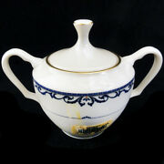 Lenox Liberty Covered Sugar Bowl 4.25 Tall New Never Used Made In Usa