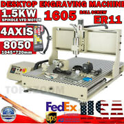Usb 8050 1.5kw 4axis Cnc Router Engraver Engraving Wood Milling Cutting Machine