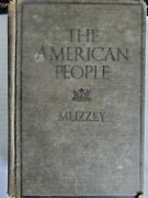 Rare The American People By Muzzy 1929 Hard Cover Book