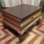 John Dickinson Stacked Books End Table Rare Excellent Quality