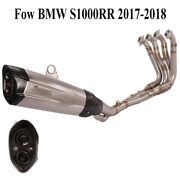 Motorcycle Full Exhaust System Pipe Muffler Link Front Pipe For Bmw S100rr 17-18