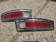 Original 1973 Ford Wagon Afd Automobile Auto Car Tail Light Lens Assembly Both