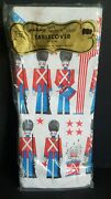 New Sealed Vintage Gibson Pakay Toy Soldiers Paper Birthday Tablecloth 60 X 102