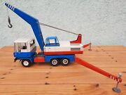 Works Nice Vintage Tin Toy Gdr Ddr Msb Crane Truck Ms 66-07 Made In Germany 70s
