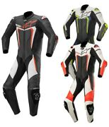 Alpinestars Motegi V3 Menand039s Leather Suit Motorcycle One Piece Suit Summer Racing