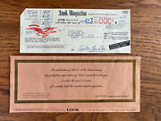 Vintage 1955 Look Magazine Novelty Bank Check Discount Coupon Subscription