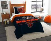 Chicago Bears Nfl Northwest Twin Printed Comforter Set Free Shipping
