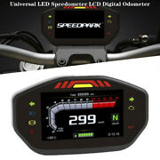 Universal Led Speedometer Lcd Digital Odometer Part For 2.4 Cylinder Motorcycle