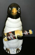 Vintage 1996 Anheuser-busch Bud Ice Penguin Stein With Box And Coa