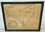 1761 A New Map Of The River Mississippi From The Sea To Bayagoulas Hand Colored