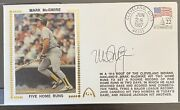 1987 Gateway Stamp Cache Mark Mcgwire Autographed Silk 100 Home Run Record