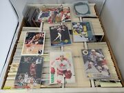 Collection Of Sports Cards, Hockey, Basketball In Box, Ships Free
