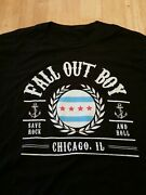 Fall Out Boy, Save Rock And Roll Manhead T-shirt, Chicago Il, Black Size Large.