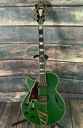 Dand039angelico Left Handed Deluxe Ss Semi-hollow Electric Guitar-matte Emerald Green
