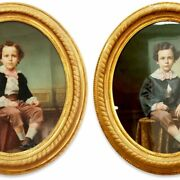 7338 Oil On Canvas Portraits 19th Century Continental