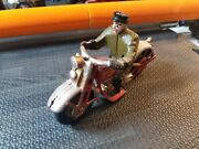 Vintage/antique Style Cast Iron Motorcycle / Rider