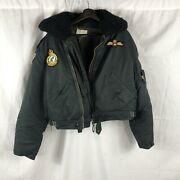 Vintage 1970s Patched Royal Canadian Air Force Flight Jacket