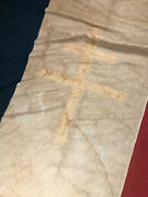 Original Large French Liberation Ffl Flag Flew Over Toulon Wwii