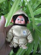 Rare 5 Vintage Monchichi Monkey Astronaut In Gold Space Suit Googly Eyes Thumb