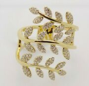 2.45ct Natural Round Diamond 14k Solid Yellow Gold Cocktail Ring In Size 7