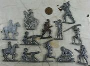 Lot Of Vintage 1920and039s Cast Lead Ww1 Soldier And More
