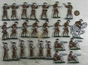 Large Lot Of Vintage 1920and039s Cast Lead Ww1 Soldiers Stadden