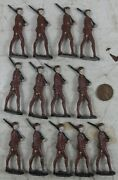 Lot Of Vintage 1920and039s Cast Lead Ww1 Soldiers Stadden