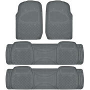 3 Row Full Set Floor Mats For Kia Sedona 4 Piece Gray Semi Custom Fit⭐⭐⭐⭐⭐