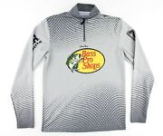 Bass Pro Shops Mens Small Tracker Pro Qualifier 1/4 Zip Fishing Jersey Pullover