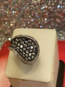 Vintage Real Diamonds Sterling Silver Ring Sz 6